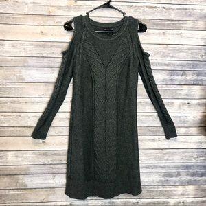Banana Republic | shoulderless  chunky knit dress